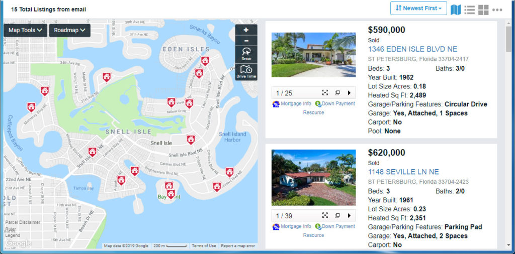 Properties sold on Snell Isle