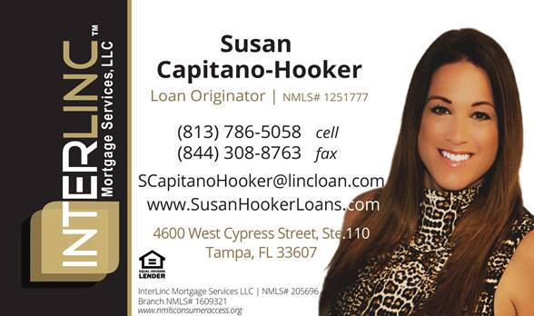 Susan Capitano-Hooker can help you improve your credit to qualify for better loan terms. 813-786-5058 www.SusanHookerLoans.com Mortgage Loan Originator NMLS#1251777