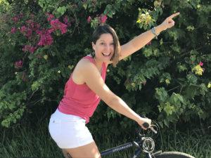 Kathleen leading a bike tour