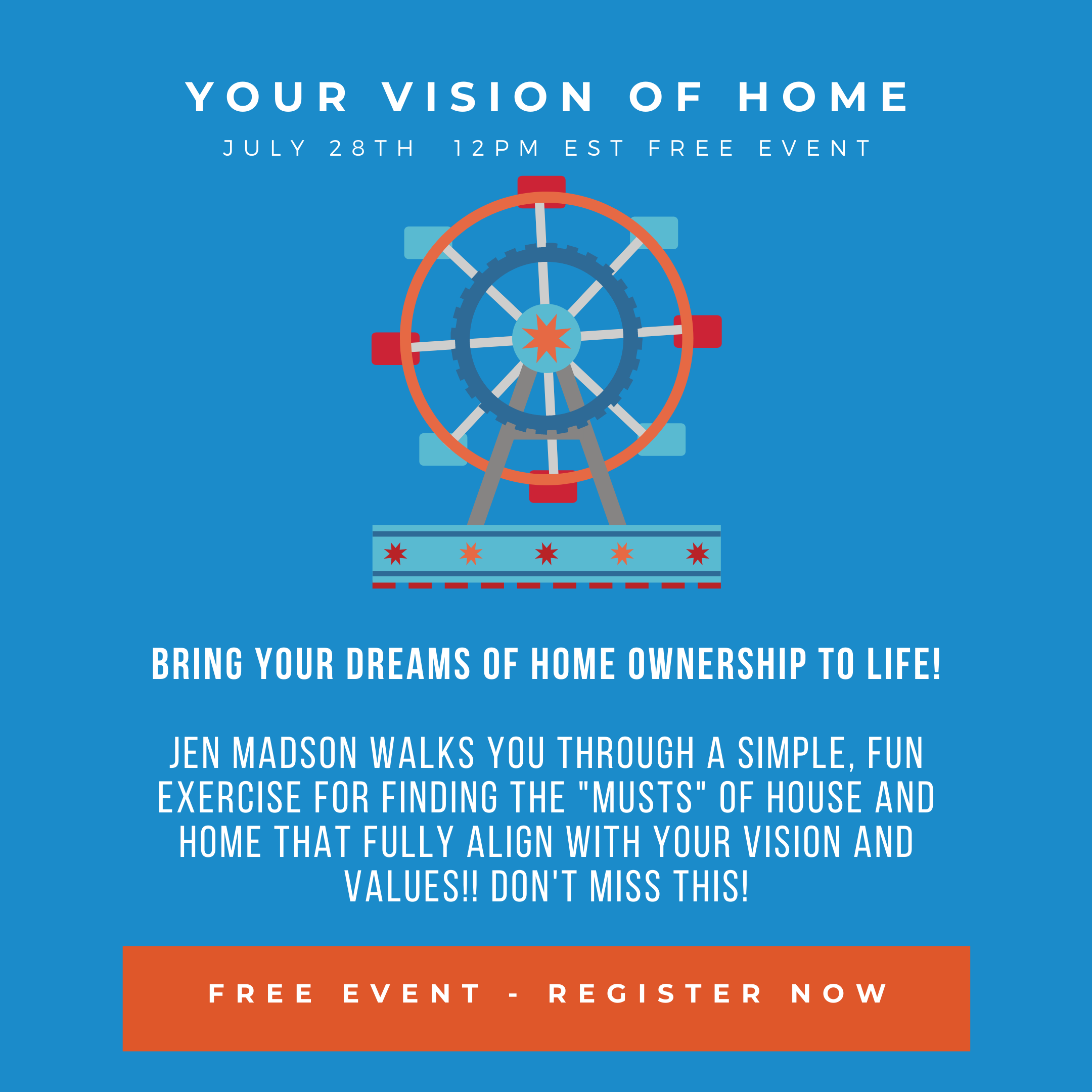 Wheel of life -  event to find your Vision of Home